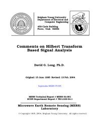 Comments on Hilbert Transform Based Signal Analysis - BYU MERS ...