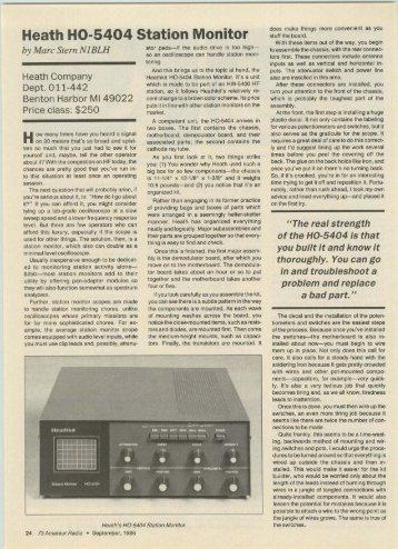 Tells All - The Heathkit HO-5404 Station Monitor - Nostalgic Kits ...