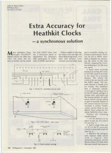 Extra Accuracy for Heathkit Clocks - Nostalgic Kits Central