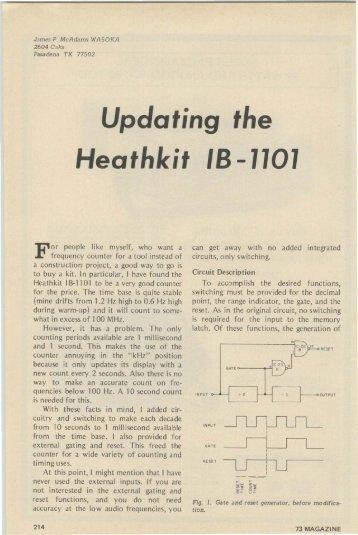 Updating the Heathkit IB-1101 - Nostalgic Kits Central