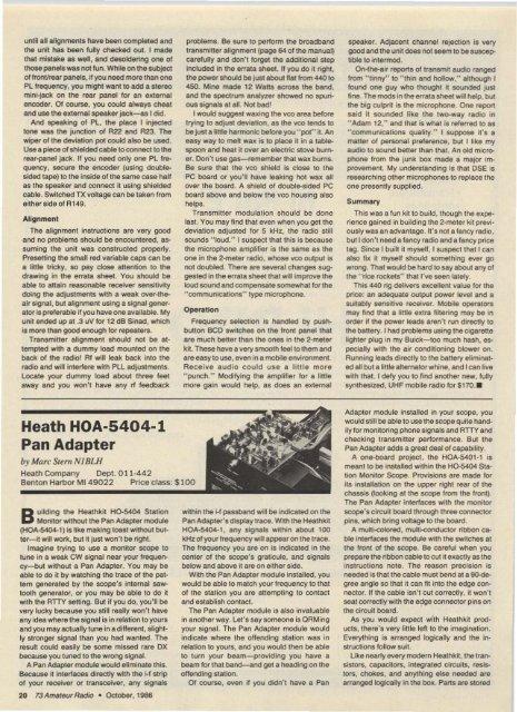 Heath HOA·5404·1 Pan Adapter - Nostalgic Kits Central