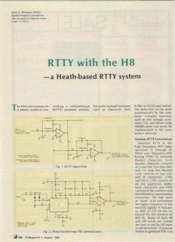 RTTY with the H8 - Nostalgic Kits Central
