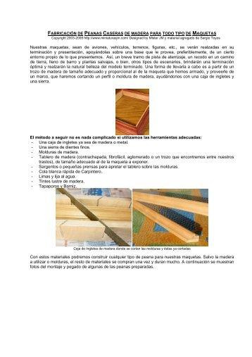 fabricacin de peanas caseras de madera para ... - Soldados Digital