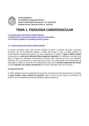 tema 1. fisiologia cardiovascular - Escuela de Medicina