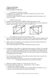 Groupe seconde chance Feuille d'exercice n° 2 ... - Primaths