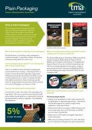 TMA-Plain-Packaging - Tobacco Manufacturers' Association