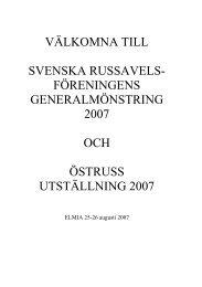välkomna till svenska russavels- föreningens generalmönstring ...