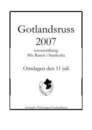 Gotlandsruss 2007 - Svenska Russavelsföreningen