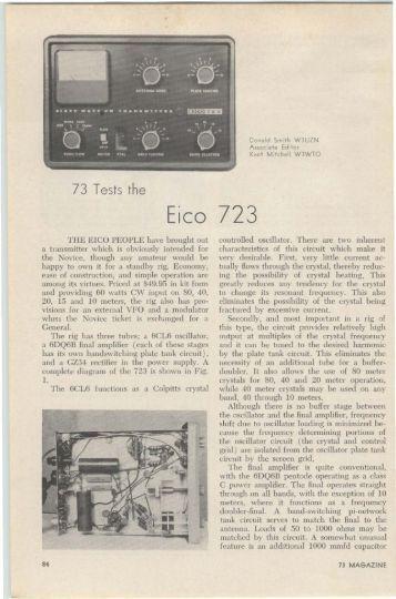 The Eico 723 - Nostalgic Kits Central