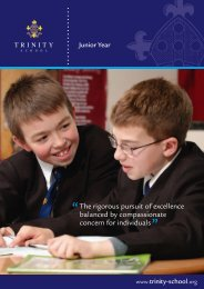 Junior Year - Trinity School