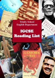 IGCSE Reading List - Trinity School