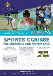 October Sports Courses - Trinity School