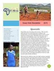 2015 Swazi Kids Newsletter