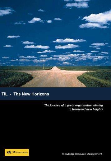TIL - The New Horizons - til india