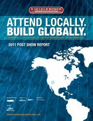 2011 PoSt SHoW RePoRt - NUCLEAR POWER International