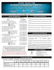 Hotel Block Reservation Form - POWER-GEN International