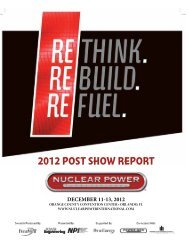 2012 Post Show Report (pdf) - NUCLEAR POWER International