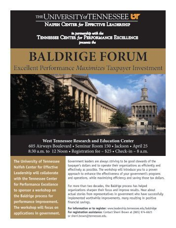 malcolm baldrige award mercy health system Copyright - quality texas foundation page 1 of 4 at mercy health system, a 2007 baldrige recipient, ceo javon bea personally led training programs to orient for the malcolm baldrige national quality award for sixteen years.