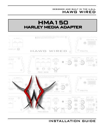 HMA150 Harley Media Adapter - Hawg Wired