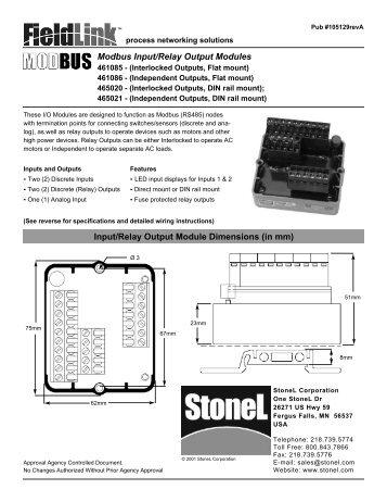 Modbus Input/Relay Output Modules - StoneL