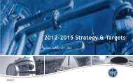2012-2015 Strategy & Targets - Snam