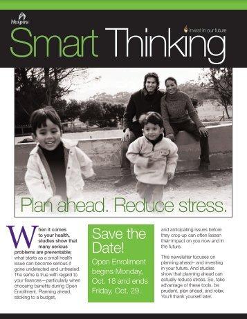 Plan ahead. Reduce stress. - Hospira