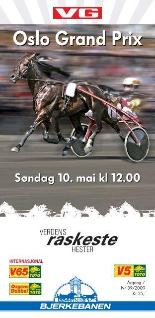 Fullstendig løpsprogram søndag - Bjerke travbane
