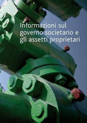Informazioni sul governo societario e gli assetti proprietari - Snam