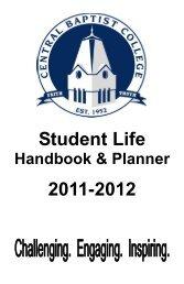 2011-2012 Handbook.pdf - Central Baptist College