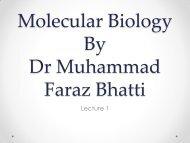 Molecular Biology first lecture (Faraz) - lectureug4