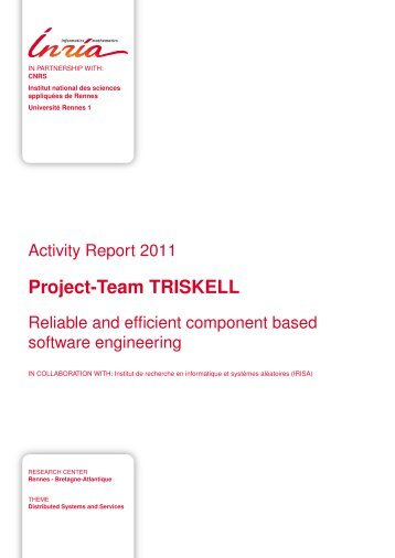 Project-Team TRISKELL - Inria - 2011 Teams Activity Report