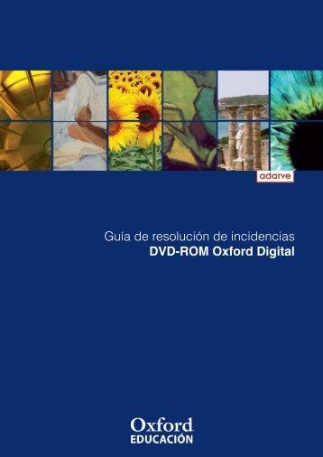 Guía de resolución de incidencias DVD-ROM Oxford Digital