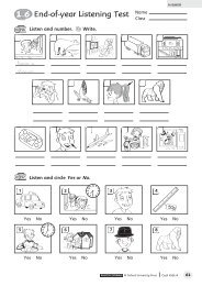 Linguistic competence test from Cool Kids 4 term 3 higher level tests