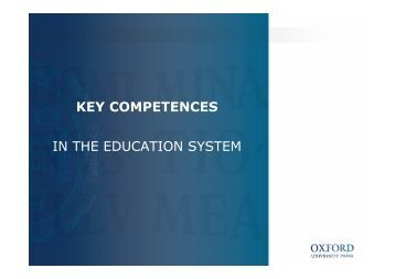 key competences in the education system