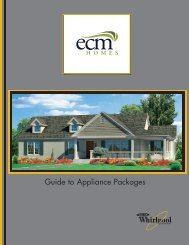 Guide to Appliance Packages - ECM Homes