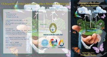 I Encuentro Internacional sobre Medio Ambiente - Universidad ...