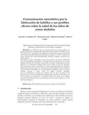 Contaminación atmosférica por la fabricación de ladrillos y sus ...
