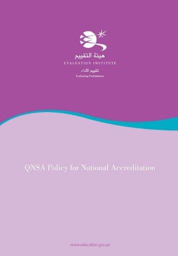 QNSA Annual Evaluation policy