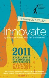 Event Brochure - Tennessee Center for Performance Excellence