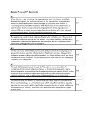 Sample Process OFI Comments - Tennessee Center for ...
