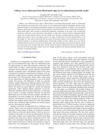 Solitary waves bifurcated from Bloch-band edges in two ...