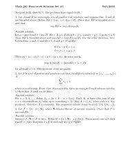 Math 241 Homework Solution Set #1 Fall, 2003 Assigned 9/22. Due ...