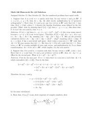 Math 240 Homework Set #3 Solutions Fall, 2010 Assigned October ...