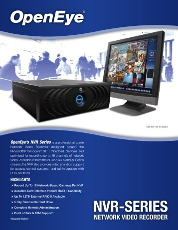 Open Eye NVR Network Based DVR - Contract Security Inc