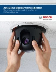 AutoDome Modular Camera System - Bosch Security Systems