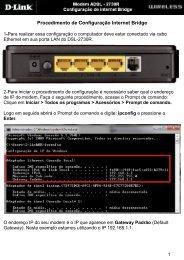 Procedimento de Configuração Internet Bridge - D-Link