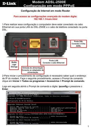 Configuração de Internet em modo Router - D-Link