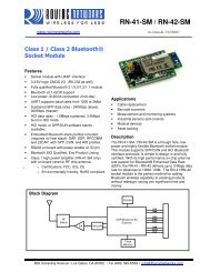 RN-41-SM specification sheet - Texim Europe