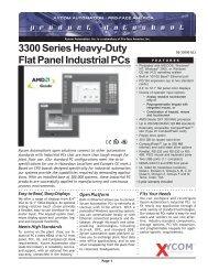 3300 Series Heavy-Duty Flat Panel Industrial PCs