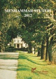 Broschyr Menhammar 2012 sep:Layout 1 - Menhammar Stuteri